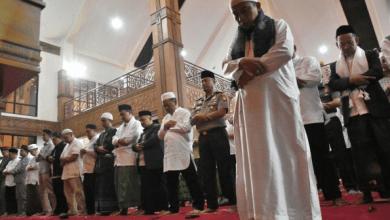 Pelaksanaan Salat Gerhana di Masjid Balaikota Depok